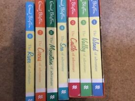 7 Enid blyton books from the adventure series. Used condition