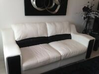 Stunning Leather Sofas and matching occasional tables