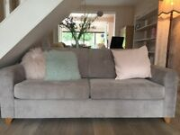 Immaculate John Lewis Zack Med Sofabed Silver oak