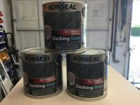 3 Tins of Ronseal Ultimate decking stain