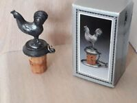 Boxed Cockerel Wine Bottle Stopper