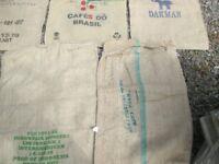 10 x Coffee Hessian Jute sacks mixed chosen at random crafts veg potato etc