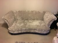 Two (2) x DFS Concerto 3 seater sofa in grey / mink