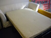 WHITE LOOSE COVER SOFA BED