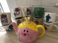 Mr Men & Little Miss Mugs and Little Miss Princess Teapot