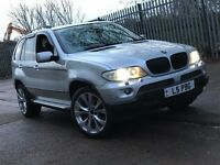 BMW X5 3.0 D SPORT DIESEL AUTOMATIC SILVER FACELIFT MODEL NEWER SHAPE 4X4 SILVER TOP SPEC N X3 VOUGE