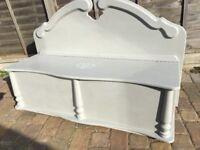 Storage seat bench settle blanket box ottoman