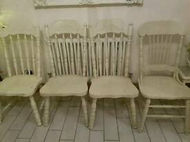 High back dining chairs x4