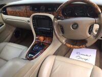 STUNNING Jaguar 3.0 V6 SE luxury saloon Blue metallic/ Cream Leather, walnut interior, BEAUTIFUL CAR