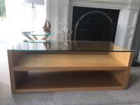 Habitat oak and glass TV stand