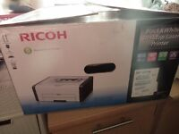 Laser printer . Nicoh SP201N. Black and white. Almost new. Boxed.