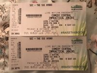 2 x Impractical Jokers tickets. Fri 6th Oct. SSE Hydro. Row R, Seat 153 & 154.