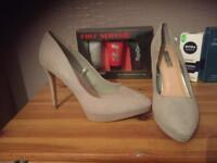 Pale grey shoes