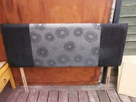 King Size Headboard with Black & Grey Design