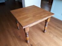 Restored, traditional pub table with a quirky number 11 inset, perfect 4-seater dining table
