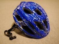Blue-white adult BIKE HELMET (ladies, medium size, 52-56 cm) - Muddyfox