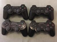 4 Ps3 controllers
