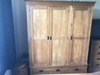 Solid Oak Furniture land triple wardrobe