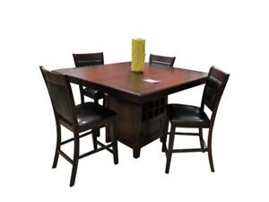 Counter height dining table with wine rack on sale (C2C2000)
