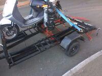 ktm type trailer new spare set wheels solid trailer tillable ease loading,