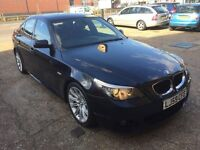 2009 BMW 520d M BUSINESS EDITION SPORT BLACK LEATHERS SAT NAV 1 OWNER