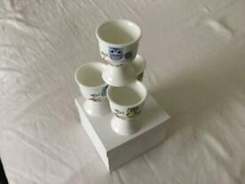 Owl egg cups new in box