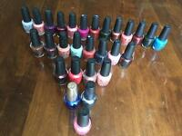 O.P.I. / Essie / CND / IBD total of 54 nail polish and gels