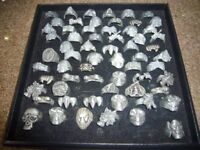 SOLID METAL/PEWTER RINGS.QUANTITY AVAILABLE.BRAND NEW.