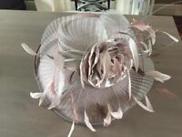 Joyce Young - Boxed wedding hat - nude / blush - mother of bride / groom