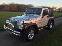 JEEP WRANGLER 2002 4.0 GRIZZLY SOFT TOP 80K WITH FULL HISTORY.. LPG. 1 YEARS MOT.