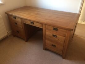 Solid Wood Office/Computer Table with 6 drawers ( 34x71 inches )