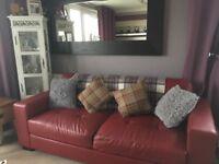 Red sofa some wear and tear smoke free home