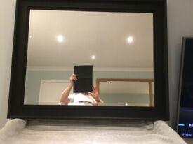 Black Wood Frame Bevelled Mirror