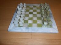 TRADITIONAL MARBLE CHESS SET.