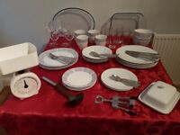 Kitchen dinner and lunch full set plates glasses cutlery and more