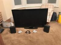 50inch Panasonic HD flat screen tv (inc. stand, speakers & remote)