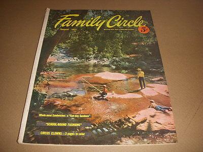 Family Circle Magazine, August, 1953, Circus Clowns Photos, 50's Kids Fashions!