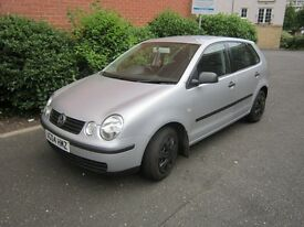 VW Polo 2004 1.2 5-door hatchback for spares or repair.