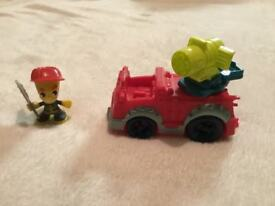 Fire engine play doh toy