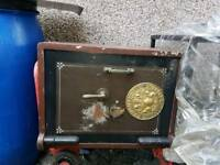 Milners Old vintage heavy duty safe jewellery money safety
