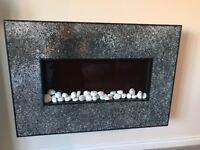Mosaic mirror fireplace