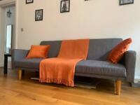 Grey Sofa Bed Clik Clak Model