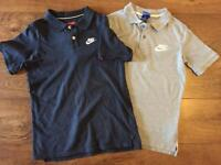 Two large boys Nike tops