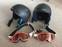 SMITH Children's ski / snowboard helmet with goggles