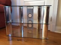 Glass and metal TV/Media stand.
