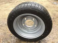 Trailer / caravan spare wheel and tyre