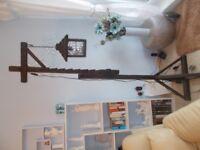 Resin, wood effect lamp post
