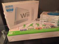 White Nintendo wii with loads