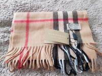 Authentic Burberry check scarf cashmere 100%