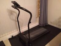 Confidence Power Plus Electric Motorised Folding Treadmill with free rubber matt